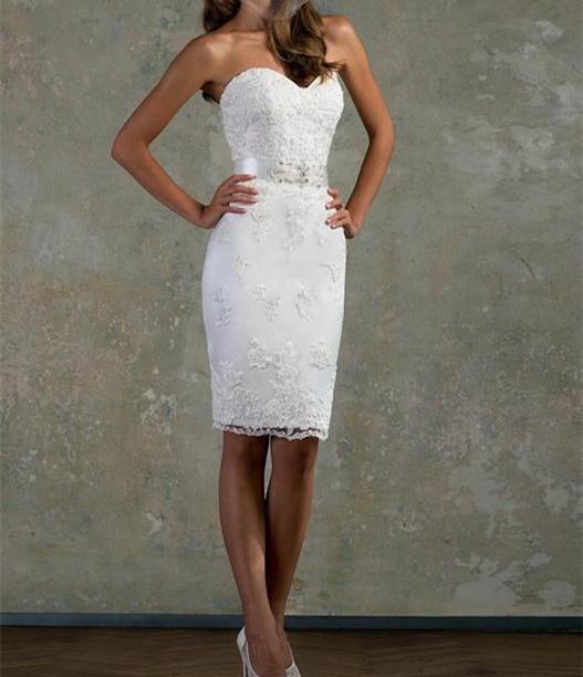 Short fitted wedding dresses promotion shop for for Short fitted wedding dresses