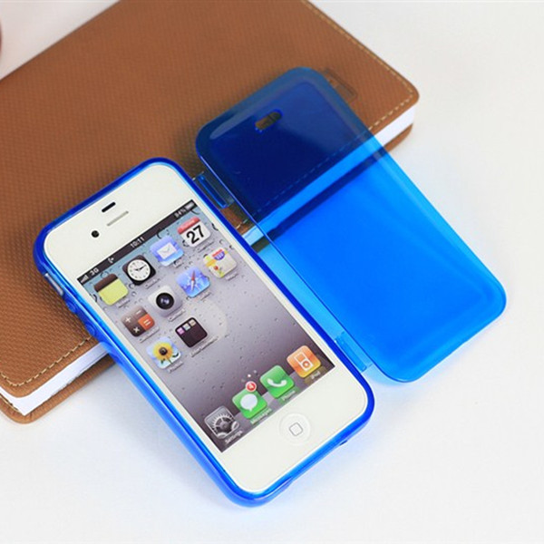 TPU soft capa cover CASE apple iphone 4S 4 4G,TRANSPARENT clear original filp case 4s cell phone - BEIJING WuYue Electronics Technology Group Co., Ltd. store
