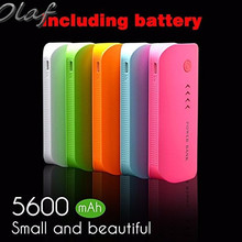 Feather Power Bank 5600mAh USB External Mobile Backup Powerbank Battery for all phone Universal Charger 2*2800mah(18650battery)