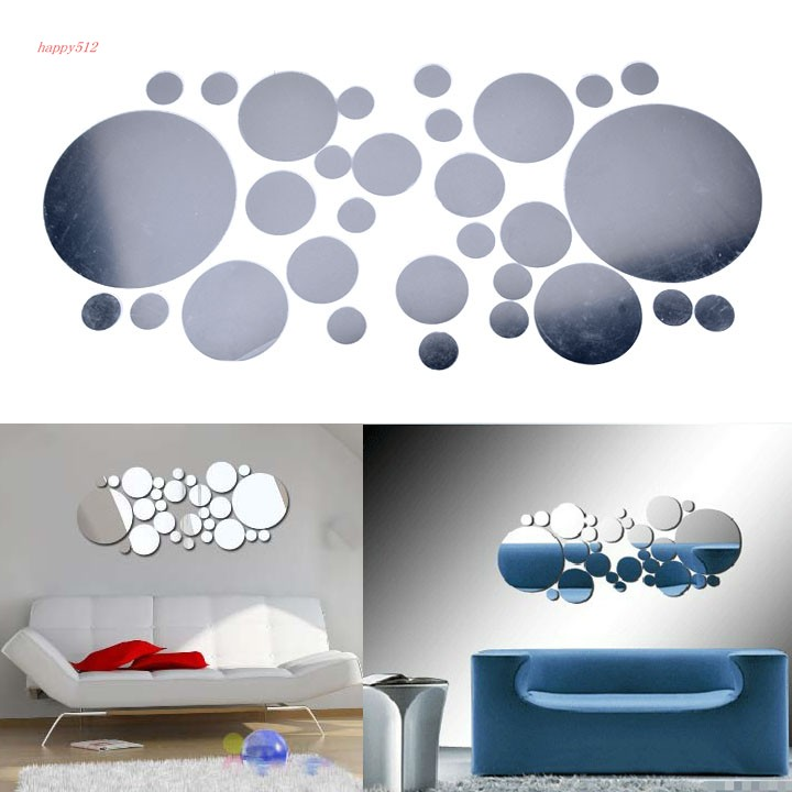 Around reflective mirror like decorative wall wall for Adhesive decoration