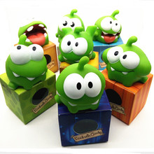 In Stock Kids Toys One Pice 7 CM Genuine Om Nom Plush Toy With Sound(China (Mainland))