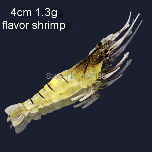 Гаджет  free shipping 30pcs 4cm 1.3g shrimp soft lures universal fishing lures with flavor None Спорт и развлечения