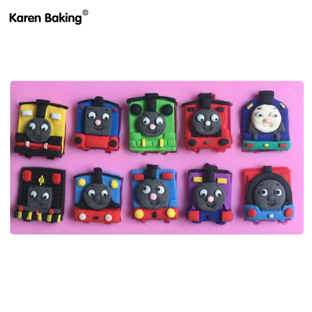 Train Shaped Silicone Mold Chocolate Molds Cake Decoration Fondant Cake 3D Food Grade Silicone Mould-C565(China (Mainland))