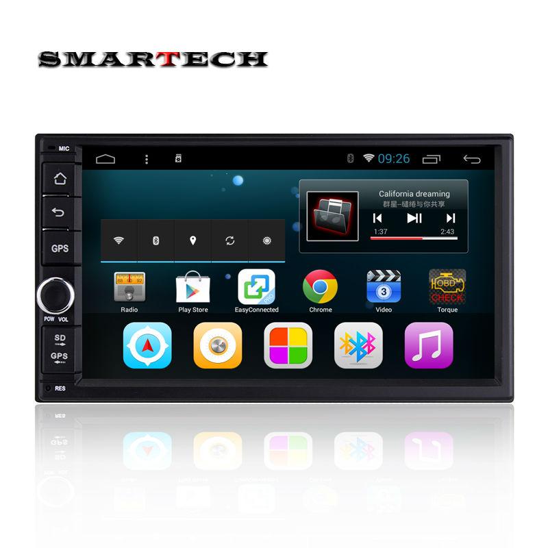 2 din android 4.4 car radio gps navigation for honda nissan qashqai kia Quad-core 7 inch HD 1024*600 screen head unit car stereo(China (Mainland))
