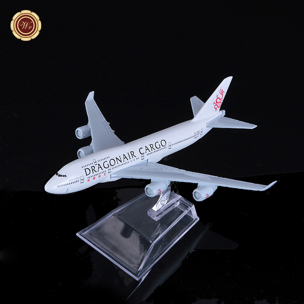 16cm Metal Aircraft Plane Model HongKong Dragon Air Cargo Boeing 747 B747 400 B-HAB Airlines Airways Airplane Model w Stand Toy(China (Mainland))