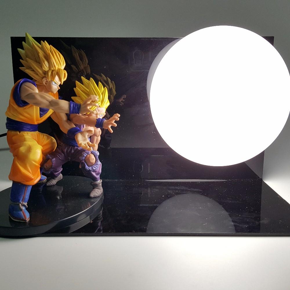 Dragon Ball Z Action Figure Son Goku Gohan Kamehameha DIY Display Toy Dragonball Z Son Gokou Esferas Del Dragon DBZ+Base +Bulb(China (Mainland))