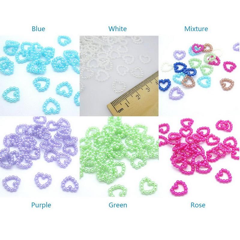 100pcs/LOT 11MM Resin heart Scrapbooking For making phone craft DIY Pick Colors VC792 P50(China (Mainland))