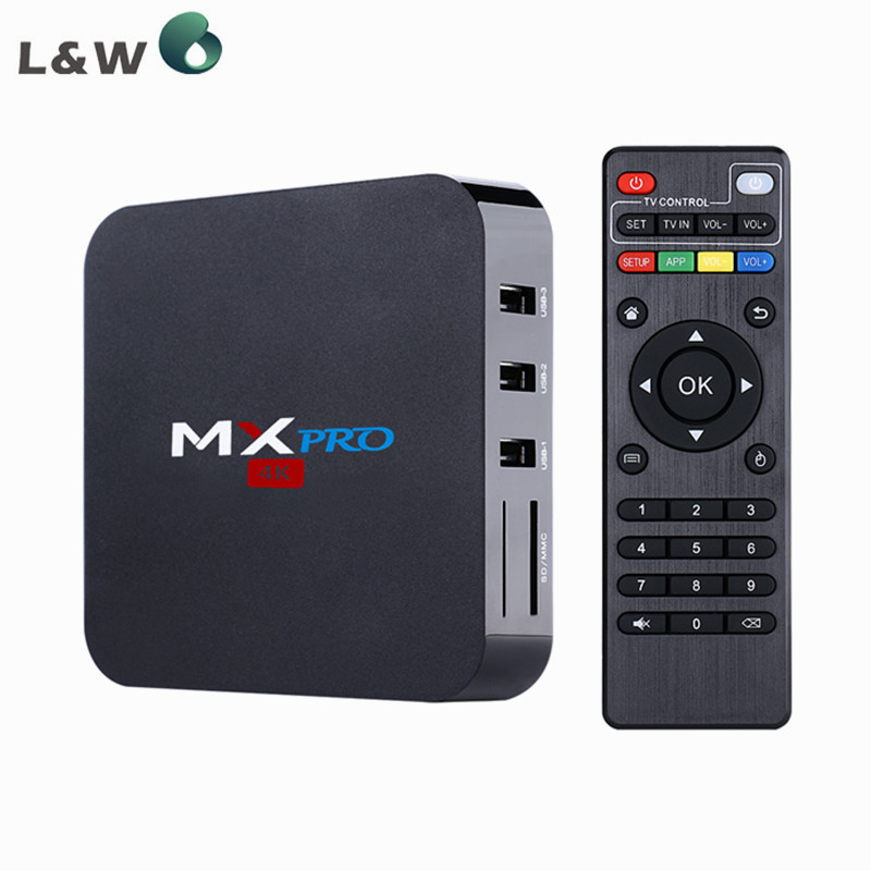 New MX PRO S905 Quad-Core Android 5.1 TV Box RAM 1G Flash 8G Kodi 16.0 Wifi 2.5GHz Built in Wifi Media Player Smart TV Box(China (Mainland))