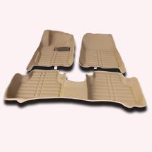 High technology design Brown Beige XPE+Leather material Anti-slip black car floor mats For Honda Accord 2009 floor mat car(China (Mainland))