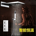 Thermostatic Valve Mixer Rain Shower Head Waterfall Spout W Hand Shower Mixer