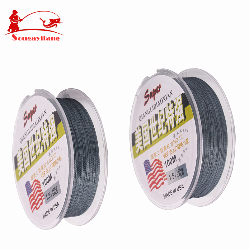 Super strong braided fishing line 100m multifilament for Braided fishing line