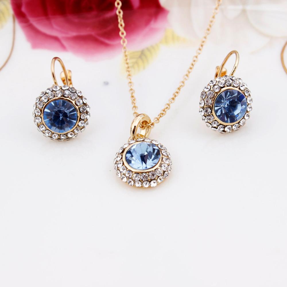Popular Necklace Set Women Jewelry Fashion Jewelry 2014 New 18K Real Gold