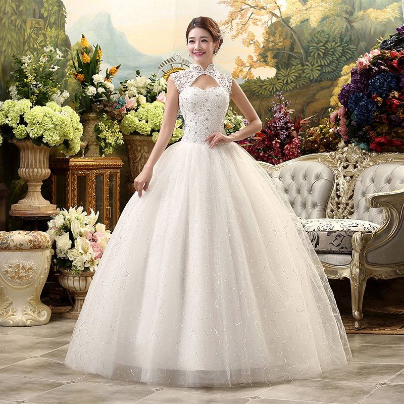 Hot sale 2016 new style custom make lace wedding dress for Where to sale wedding dresses