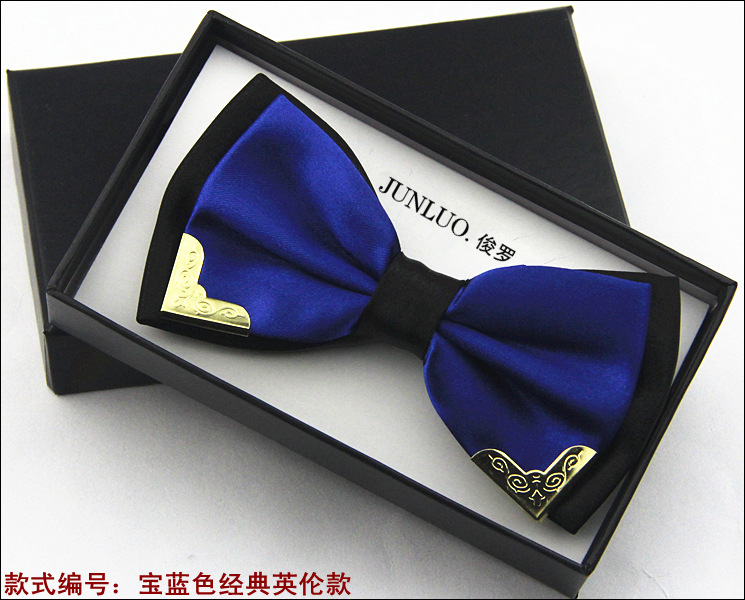 Hot Sale New Fashion Business Bow Ties for Men Groom Wedding Metal Bow Tie Wholesale Colorful