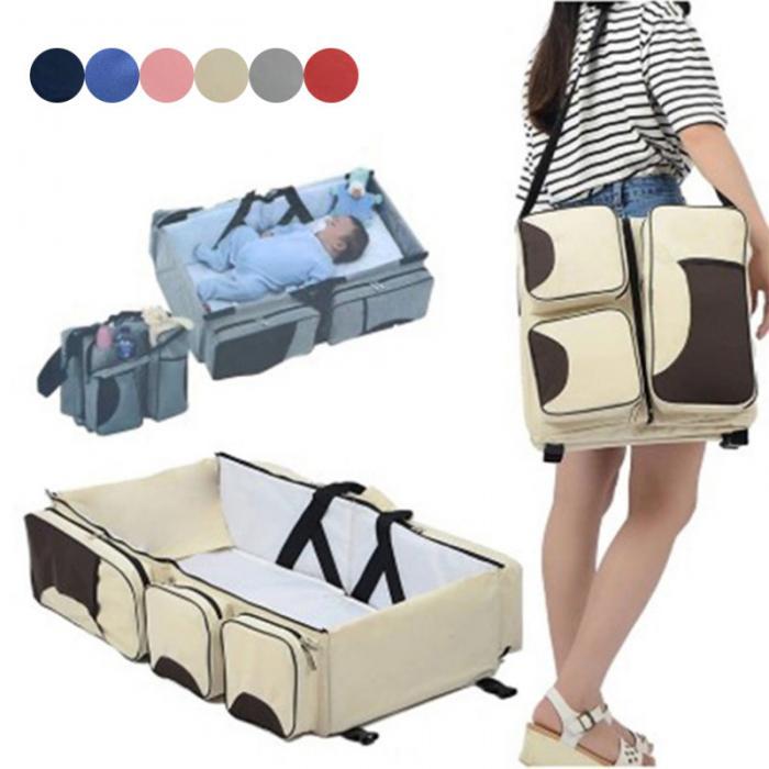 Reisebett Baby Multi Babytasche Babybett Klappbett Tragbar Wickeltasche 4 Farben