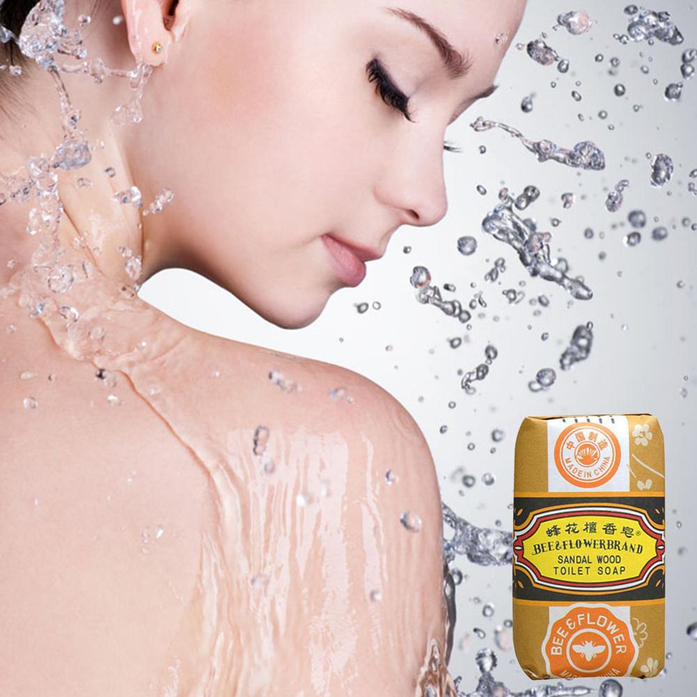25g Chinese Ancient Perfume Soap Acne Treatment Bath Travel Soap Removing Mites Bee Flower Jasmine Sandalwood Soap(China (Mainland))