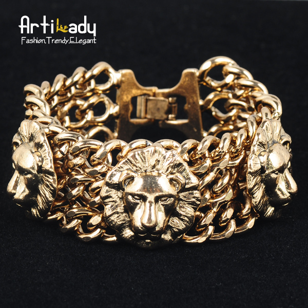 Artilady new lion bracelet street shot best desgin gold bracelet for women fashion jewelry