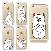 Buy Pocket Cat Middle Finger Cat Soft Phone Case Coque Fundas Capa iphone 7 7Plus 6 6S 6Plus 5 5S SE 5C 4 4S SAMSUNG GALAXY for $1.43 in AliExpress store