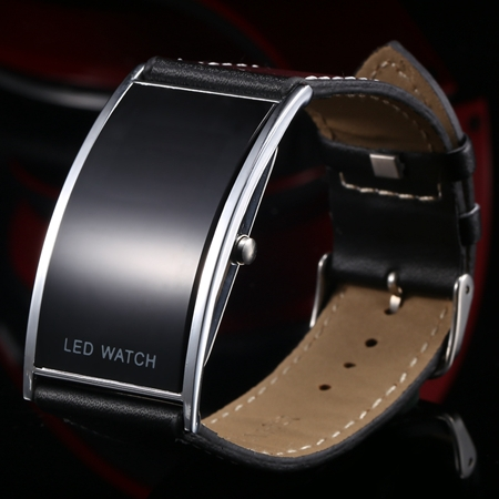 10pcs lot HK post Luxury Slim Men Women s Electronic Sports Casual Leather Strap Wristwatches Digital