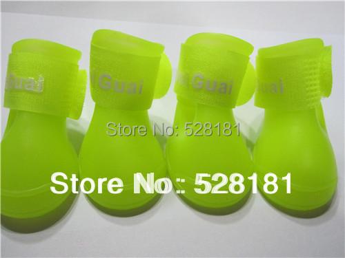 pet shoes dog shoes pet supplies Yellow pet rain boots,Waterproof performance(China (Mainland))
