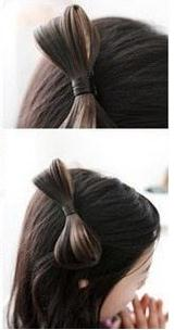 Freeshipping hot Fashion fashion wig bow hair short hair style maker broken side-knotted clip duckbill clip(China (Mainland))