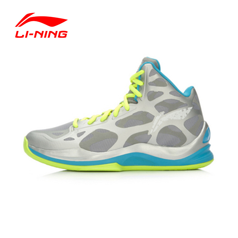 Фотография LI-NING Men Basketball Shoes Bounse+ Technology Damping Cushioning Lace-Up Sneakers Sport Shoes ABAL031 XYL064