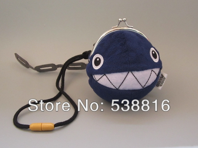 10cm Super Mario Blue Shark Wallets Anime Game Backpack Stuffed Animal Bags As Children Gifts Retail(China (Mainland))