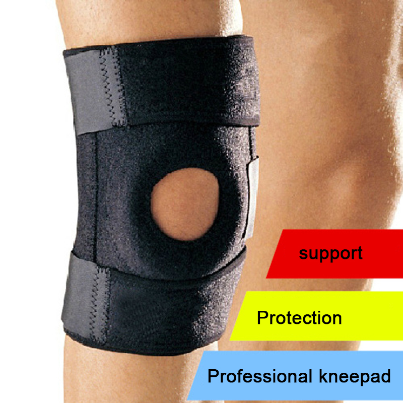 4 spring Climbing Cycling Elastic Support Brace Kneepad Adjustable Patella Knee Pads Safety Guard Strap For Basketball L-RARB-11(China (Mainland))