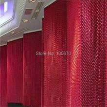 Exhibition Room Decorative Aluminum Chain Window Curtain / Door Curtain(China (Mainland))