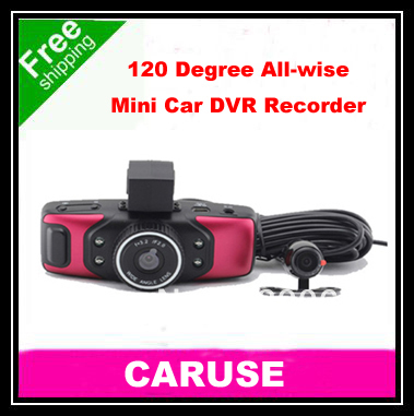 Free Shipping Wise Mini 1.5'' LCD 120 Degree Wide-Angle Lens Car Driving Recorder With HDMI Output And G-Sensor