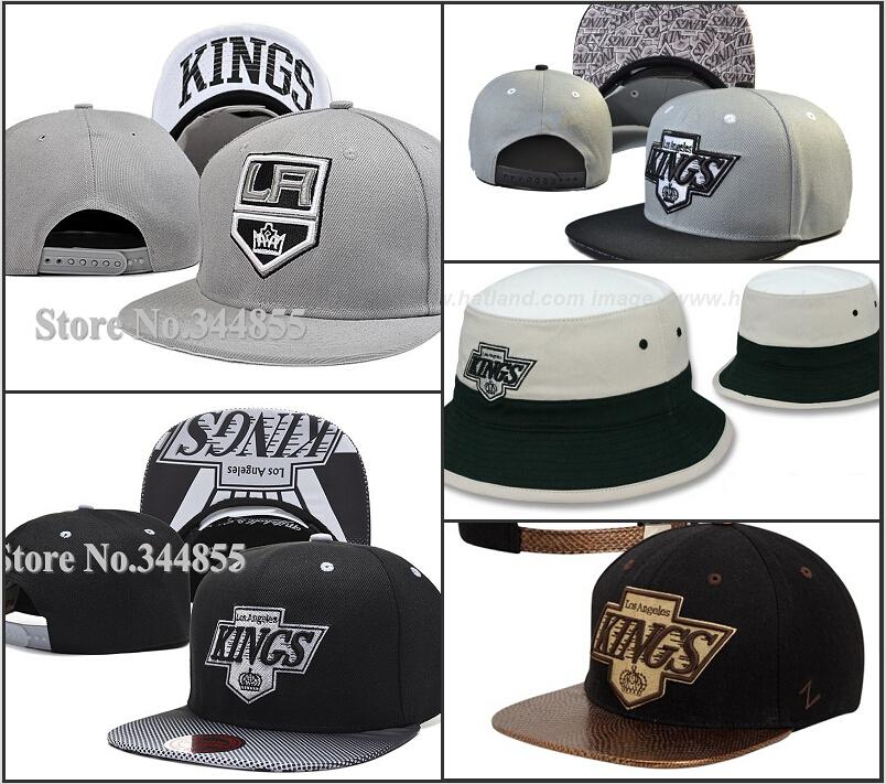9 Styles Los Angeles Kings Gradient Design Snapback Hats Fashion Hip Hop Adjustable LA Hockey Baseball Caps Print Style(China (Mainland))