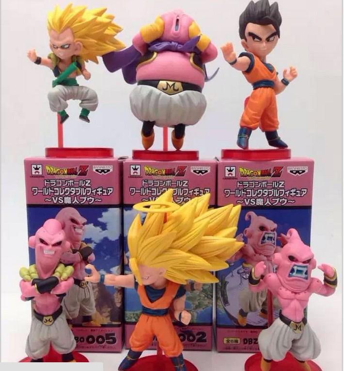 Lot/6pcs 2015 PVC Mini fighting Anime dragon ball SUPER BUU DRAGONBALL Z Budo SON GOKU wukong Action Figure collection model toy(China (Mainland))