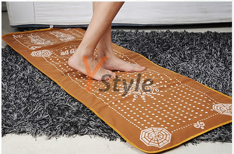 2015 Newet Foot Massage Blanket Hottest Foot Spa Massager Just Walking on it to Keep Health; Magnets Far Infrared Therapy