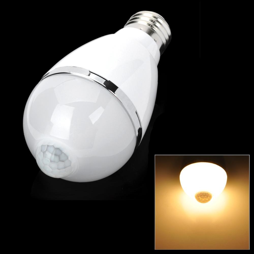 5w e27 460lm warm white light led infrared body induction light ac110v 240v m. Black Bedroom Furniture Sets. Home Design Ideas
