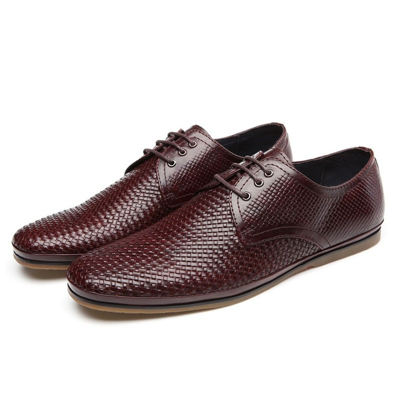 2015 New Fashion Real Genuine Leather Cowhide Formal Brand Man Derby Flats Round Toe Lace up Mens Casual Rubber Shoes FPT318<br>