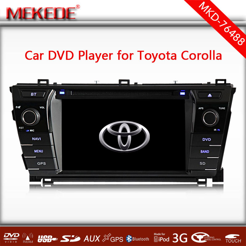 The latest Car DVD Player GPS Navi For Toyota Corolla 2014 Support 3G wifi Ipod Radio ATV Bluetooth RDS+2015 GPS Map gift(China (Mainland))
