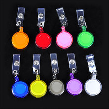 New 45pcs Retractable Lanyard ID Card Badge Holder Reels with Clip Keep ID, Key and Cell phone Safe Free Shipping(China (Mainland))