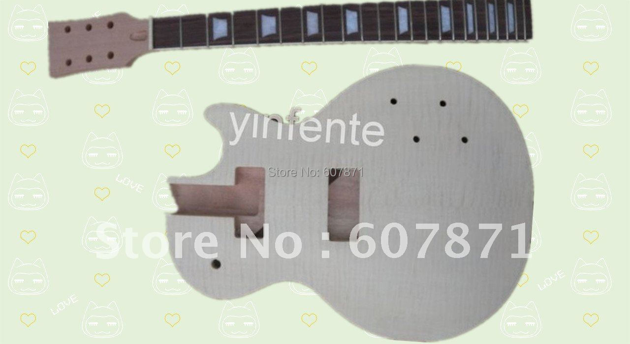 New high quality Unfinished electric guitar body + guitar neck