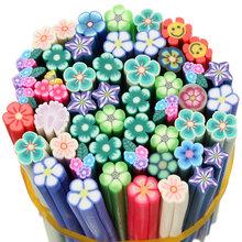 Fashion 50 Pcs Nail Art Stickers Clay Canes Rod Polymer Sticks Decoration Fruit Flower Dollhouse 5 Styles Nails DIY Tools Hot(China (Mainland))