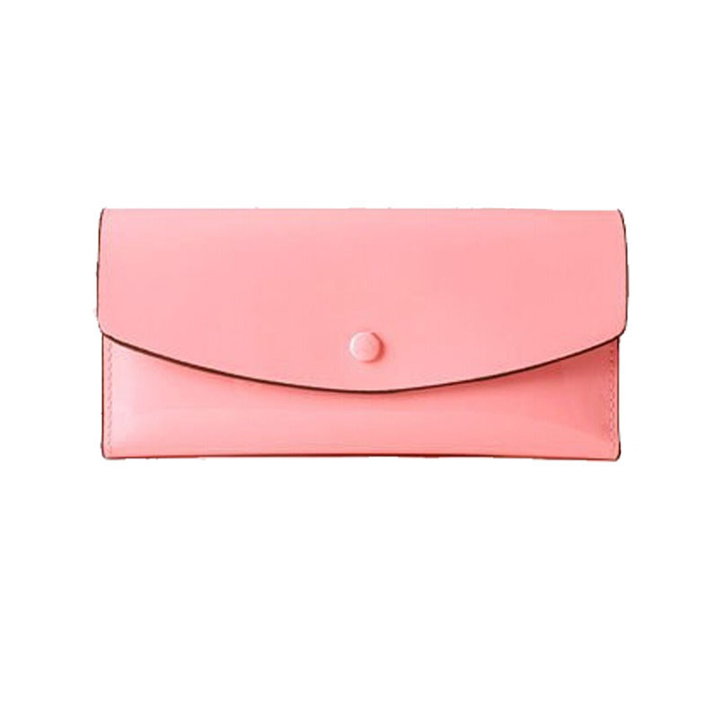 New design Composite wallet Fashion candy color purse female Patent PU leather women's wallet credit card holder(China (Mainland))
