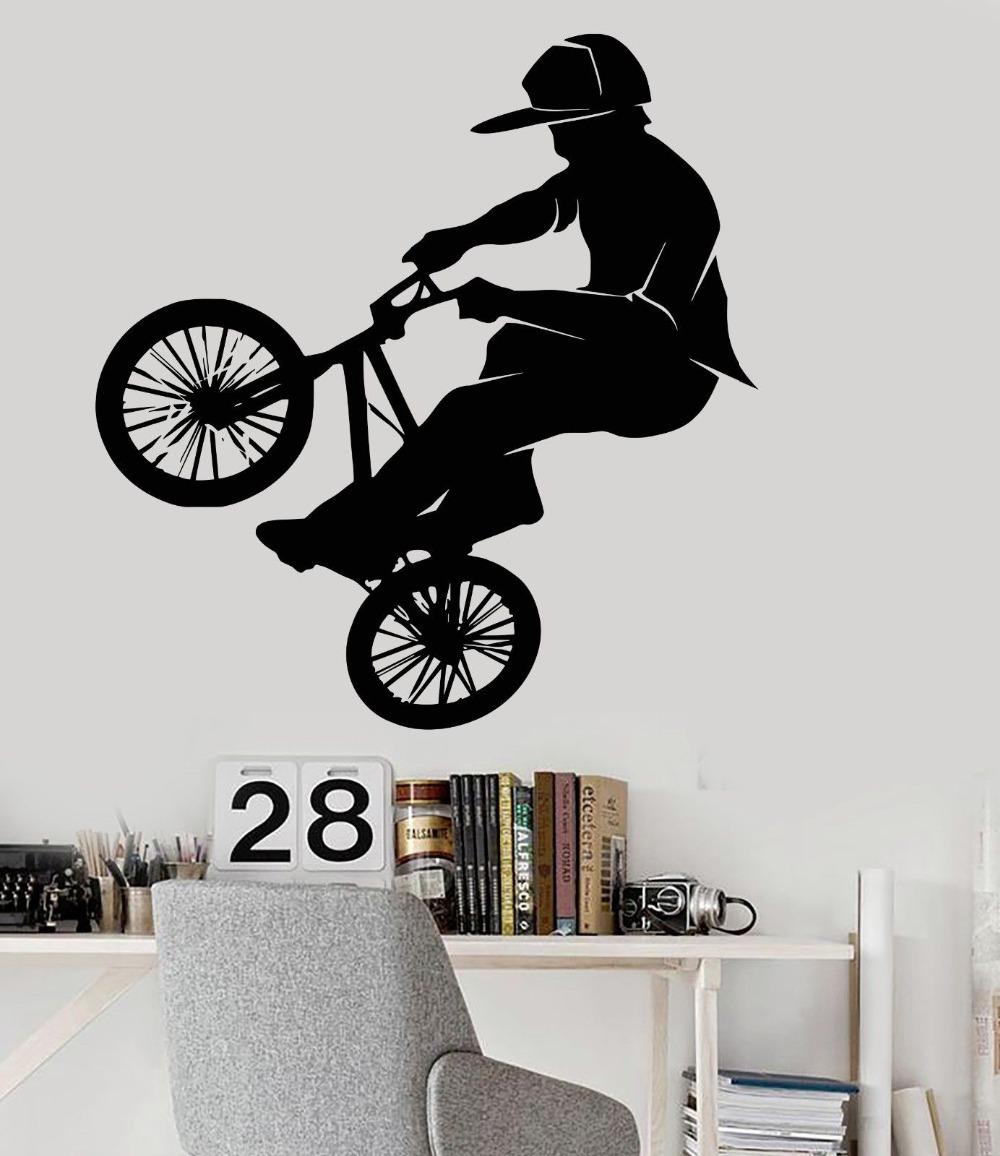 popular bicycle wall decal buy cheap bicycle wall decal bmx tricks wall sticker bike wall art