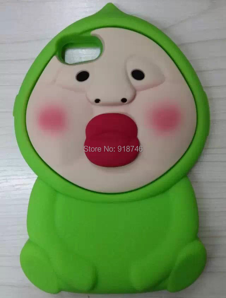 """New Cute Cartoon Kobito Dukan Silicon Case For Iphone 6 4.7"""" Kobito Peach Elves Case Phone Cover(China (Mainland))"""