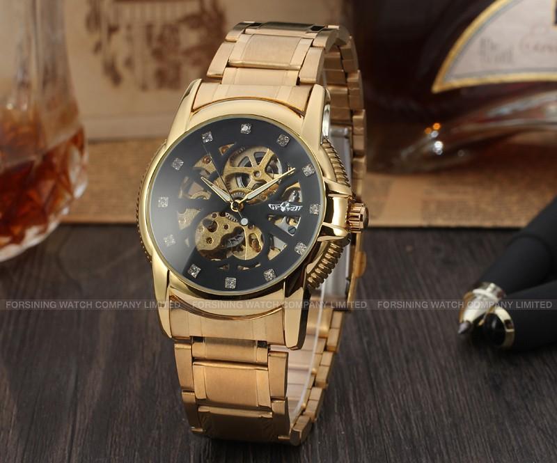 Новый Бизнес Часы Мужчины Завод Магазин Высочайшее Качество золото Автоматическая Мужские Часы из нержавеющей стали Бесплатная Доставка WRG8072M4G3