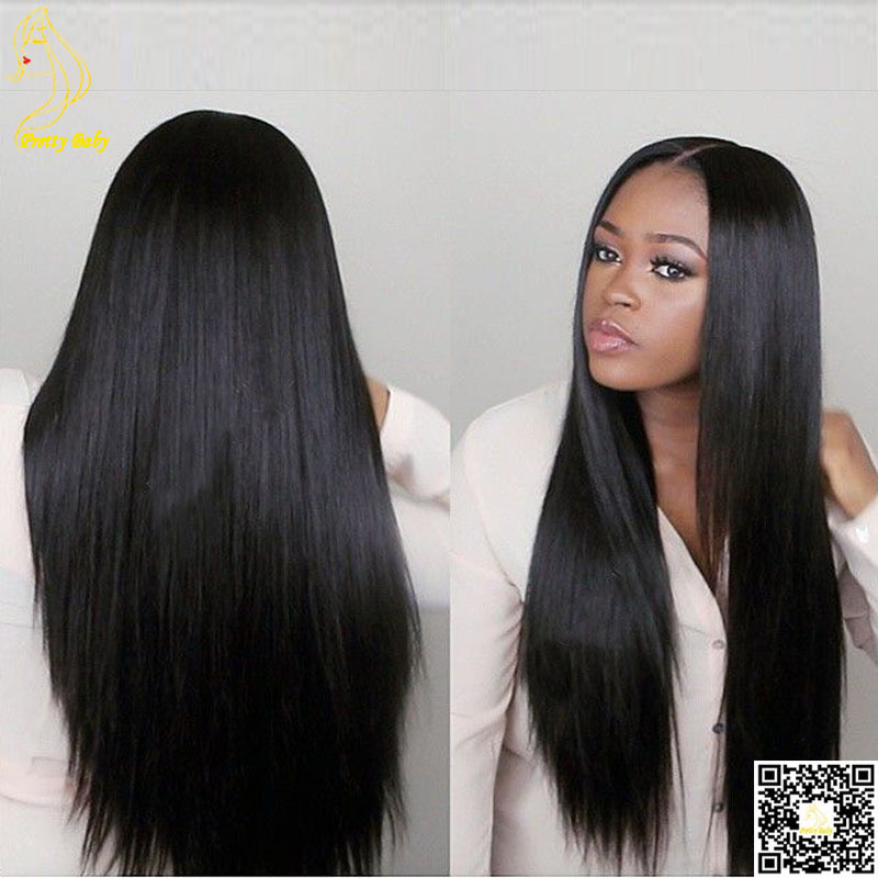 Best Virgin Brazilian Full Lace Human Hair Wigs Silky Straight Human Hair Lace Front Wigs Glueless Lace Wig with Baby Hair(China (Mainland))