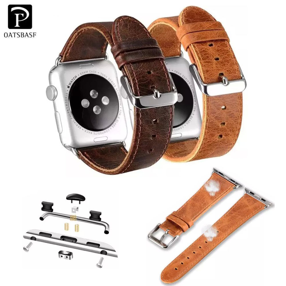 FMW Vintage Genuine Leather Strap Watch Band For Apple Watch Sport Edition 42/38<br><br>Aliexpress