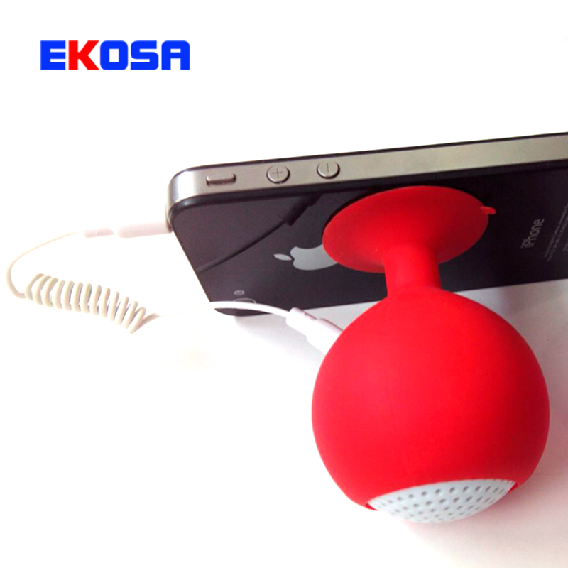 Portable Mini Silicone Sucker Speakers Red Wine Glass Shape Tablet Phone Stents Speakers Suitable for 3.5 mm Audio Output Device(China (Mainland))