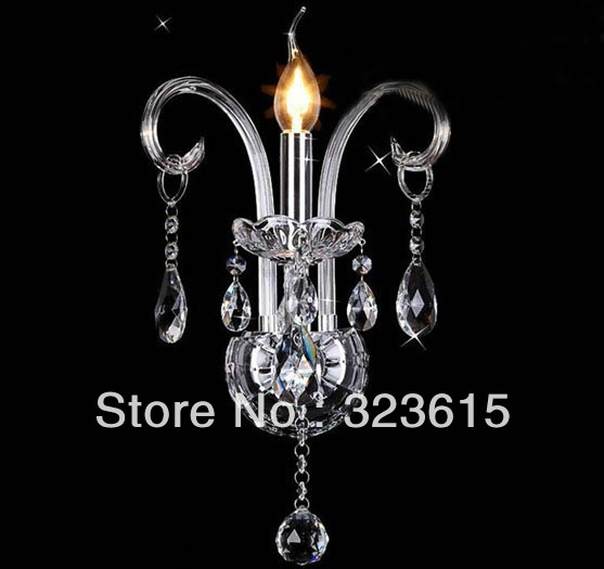 Premium Quality Modern K9 Crystal White GlassWall Lamp Corridor Aisle Light W230mm H400mm<br><br>Aliexpress