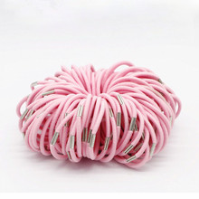 New Hot 100pcs/lot Black and Candy Colored Hair Holders Elasticity Rubber Hair Band Tie Hair for Girl Women Hair Accessories