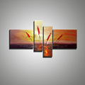 4 piece modern abstract canvas wall art colorful handmade oil painting on canvas for sale living
