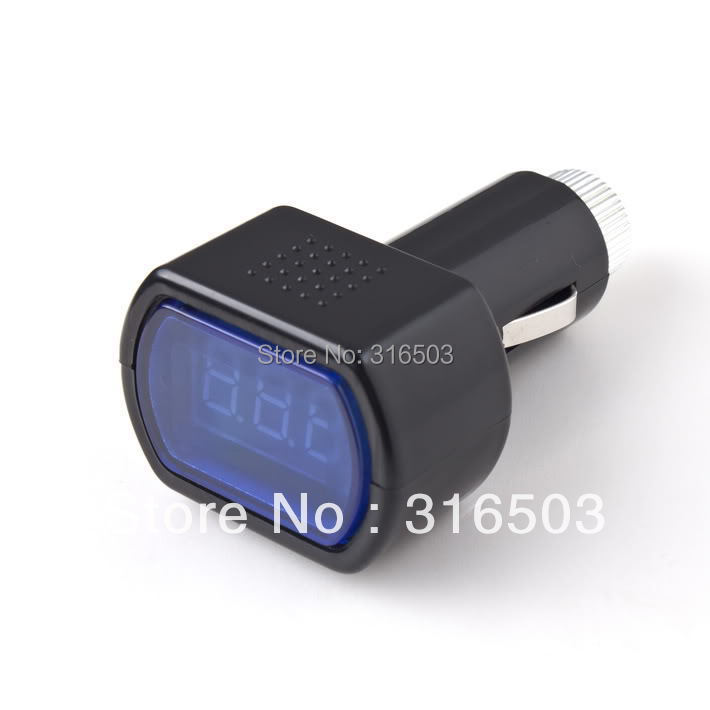 Free Shipping Car General Voltage Meter Car Motor Automotive Battery Voltage Detector(China (Mainland))